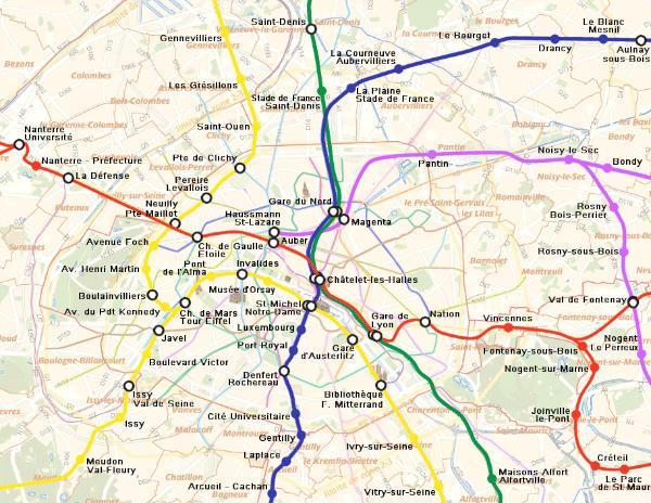 Harcacocbigb Paris Metro Map Zones